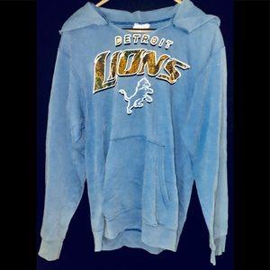 Detroit Lions Official NFL Blue Hoodie